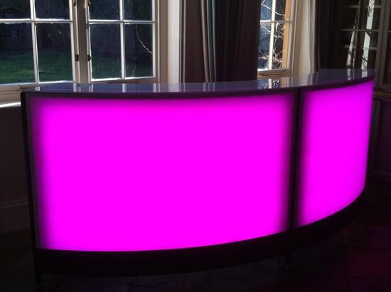 Illuminated Sectional Cocktail Bars