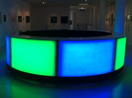 Illuminated Round Cocktail Bar